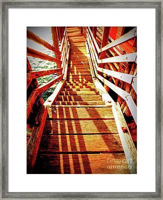 Tathra Wharf Stairs Framed Print by Lexa Harpell