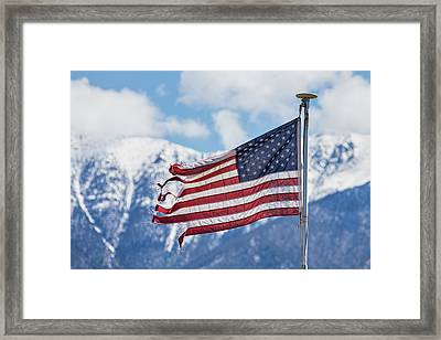 Tattered And Torn Nation Framed Print by James BO Insogna