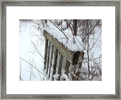 Tattered Fence Framed Print
