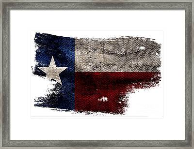Tattered Lone Star Flag Framed Print by Jon Neidert