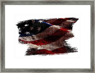 Distressed Old Glory Framed Print