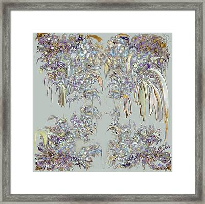Framed Print featuring the digital art Tattered Pieces by Loxi Sibley