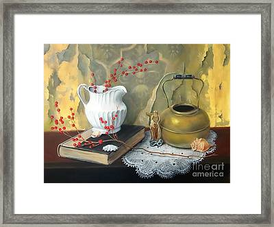 Tattered Wall Framed Print by Patricia Lang