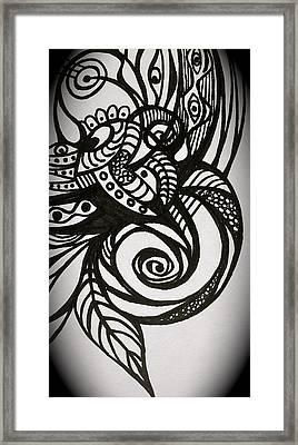 Framed Print featuring the digital art Tattoo by Erika Swartzkopf