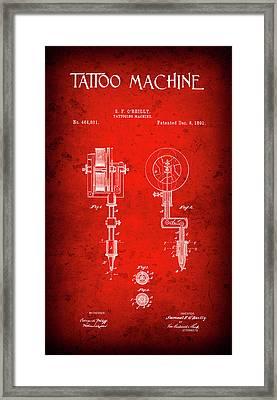 Tattoo Machine Patent  1891 Framed Print