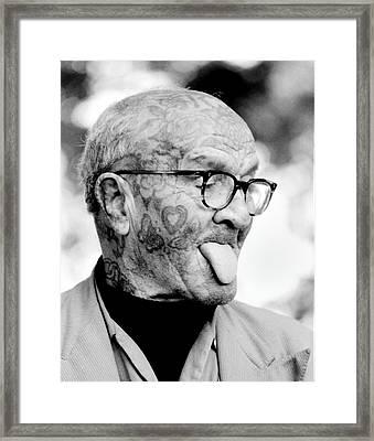 Tattoo Man Framed Print