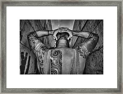 Tattoo Framed Print by Stelios Kleanthous
