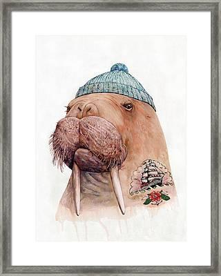 Tattooed Walrus Framed Print