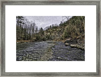 Taughannock Creek Framed Print