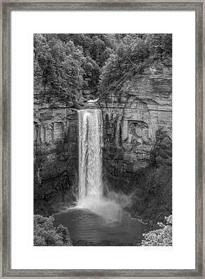 Taughannock Falls 2 Bw Framed Print