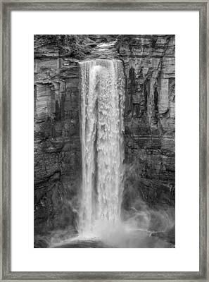 Taughannock Falls 3 Bw Framed Print