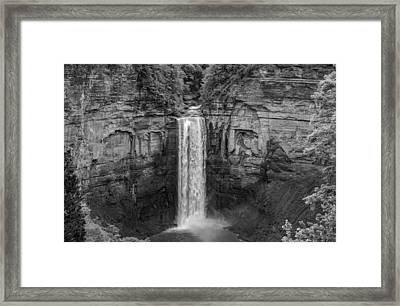 Taughannock Falls 4 - Bw Framed Print by Steve Harrington