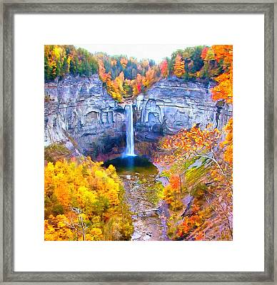 Taughannock Falls Framed Print by Anthony Caruso
