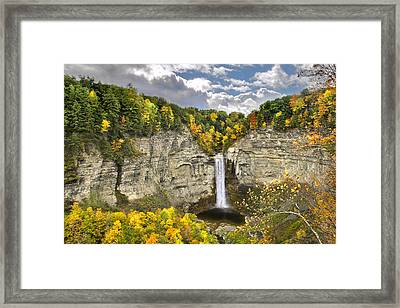 Taughannock Falls Autumn Framed Print by Christina Rollo