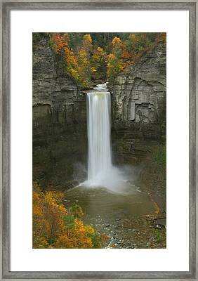 Taughannock Falls In Autumn Framed Print