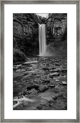 Taughannock Falls In Bw Framed Print