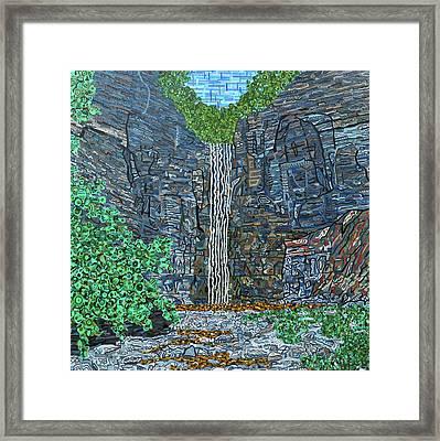 Taughannock Falls Framed Print by Micah Mullen