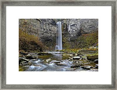 Taughannock Falls New York Framed Print by Frozen in Time Fine Art Photography
