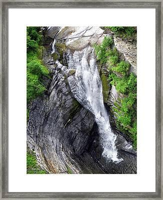 Taughannock Falls Upper Rim Trail Framed Print by Christina Rollo