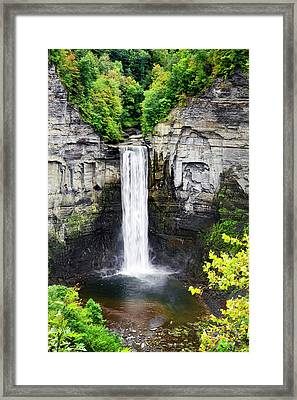 Taughannock Falls View From The Top Framed Print by Christina Rollo