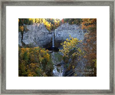 Framed Print featuring the photograph Taughannock Falls by Vilas Malankar