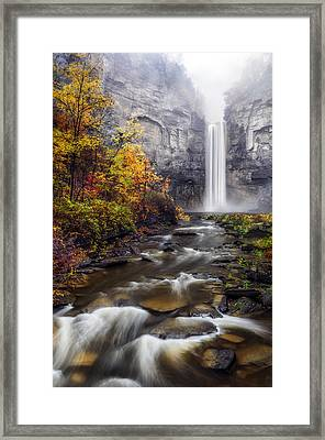 Taughannock Fog Framed Print by Mark Papke