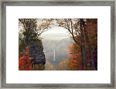 Taughannock In The Mist Framed Print by Jessica Jenney