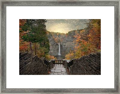 Taughannock Lights Framed Print by Jessica Jenney
