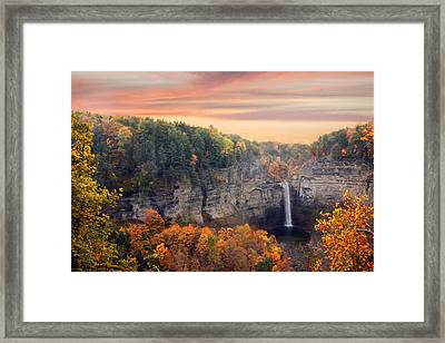 Taughannock Sunset Framed Print by Jessica Jenney
