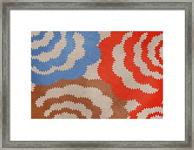 Taupe Ring Pattern Framed Print by Christina Rollo