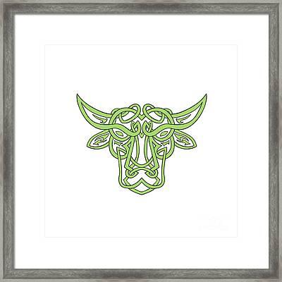Taurus Bull Celtic Knot Framed Print