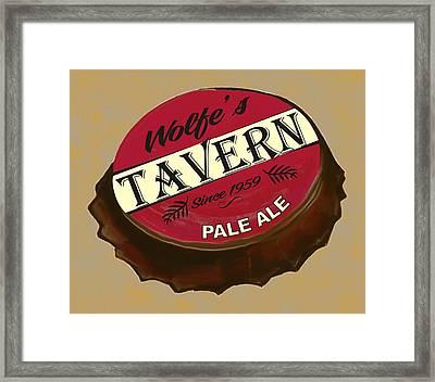 Tavern Sign Framed Print by Priscilla Wolfe