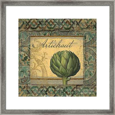 Tavolo, Italian Table, Artichoke Framed Print by Mindy Sommers