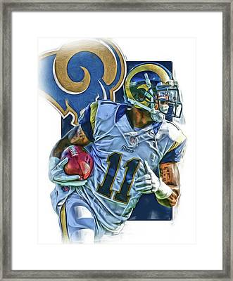 Tavon Austin Los Angeles Rams Oil Art 2 Framed Print