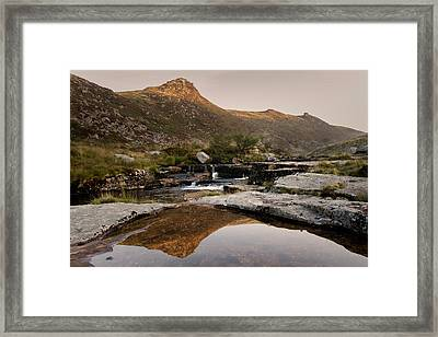 Tavy Cleave Morning Reflection Framed Print by Brian Northmore