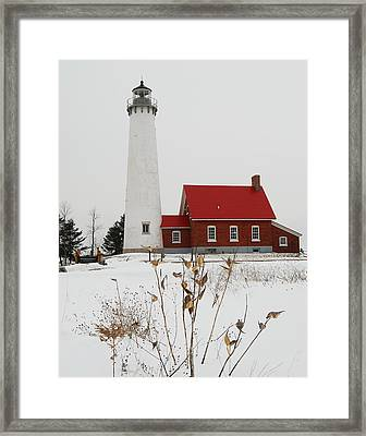 Tawas Point Lighthouse Framed Print by Michael Peychich