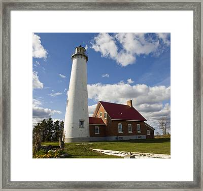 Tawas Point Lighthouse Framed Print by Tara Lynn