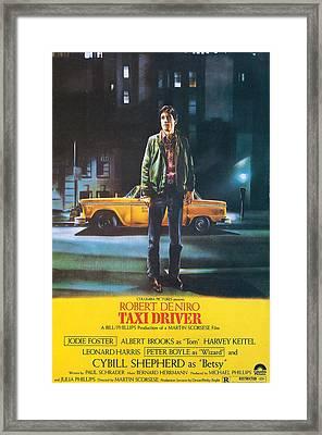 Taxi Driver - Robert De Niro Framed Print by Georgia Fowler