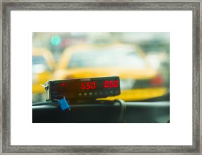 Taxi Meter Framed Print by Tetra Images