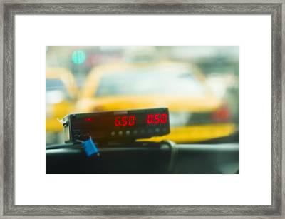 Taxi Meter Framed Print