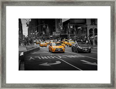 Taxi Please Framed Print