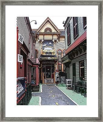 Taxi Please Framed Print by Laurie Saucier