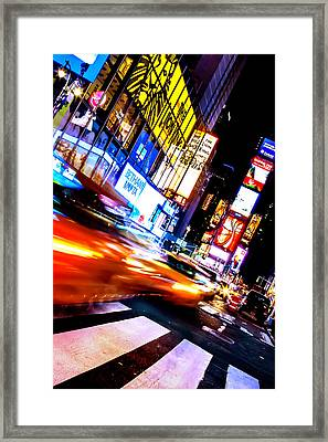 Taxi Square Framed Print by Az Jackson