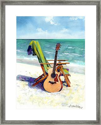 Taylor At The Beach Framed Print