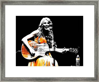 Taylor Swift 9s Framed Print by Brian Reaves