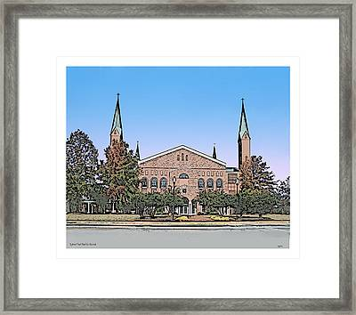 Taylors First Baptist Church Framed Print by Greg Joens