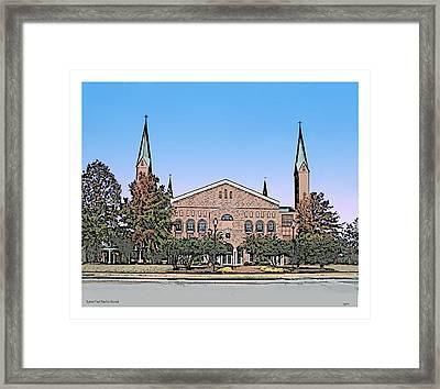 Taylors First Baptist Church Framed Print