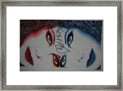Taylor's Heart Framed Print by Joseph Lawrence Vasile