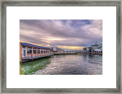 Framed Print featuring the photograph Taylors Landing by Spencer McDonald
