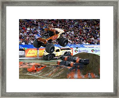 Taz Takes Flight Framed Print